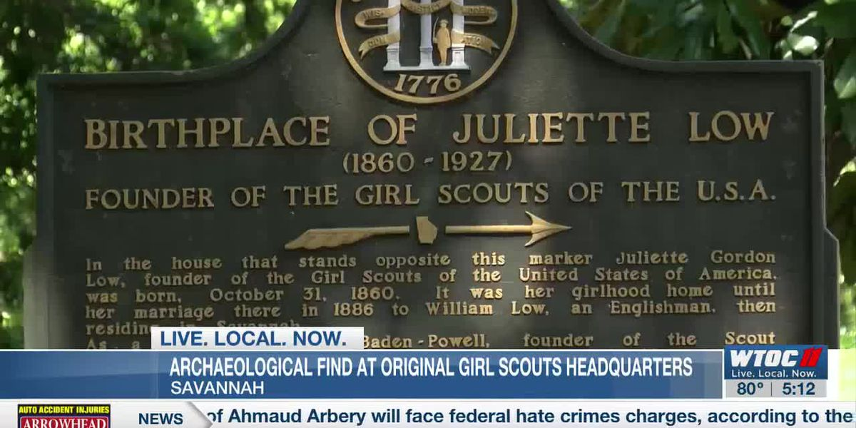 Archaeological find at original Girl Scouts headquarters