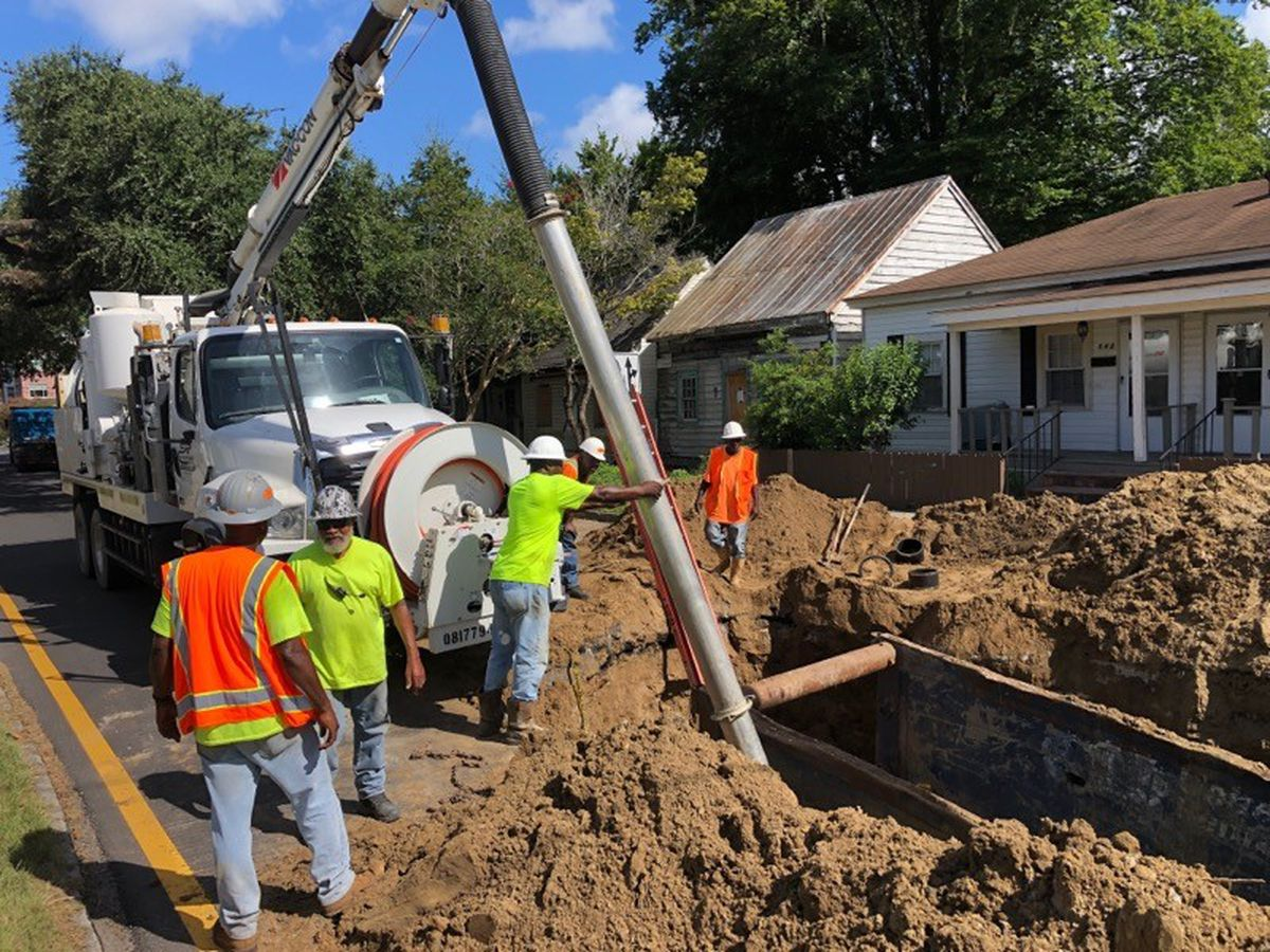 Intersection of Reynolds, Anderson streets closed due to collapsed sewer main