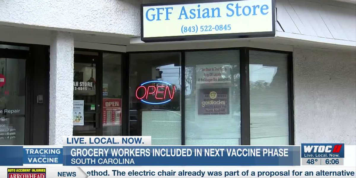 S.C. including grocery workers in Phase 1B for COVID-19 vaccine