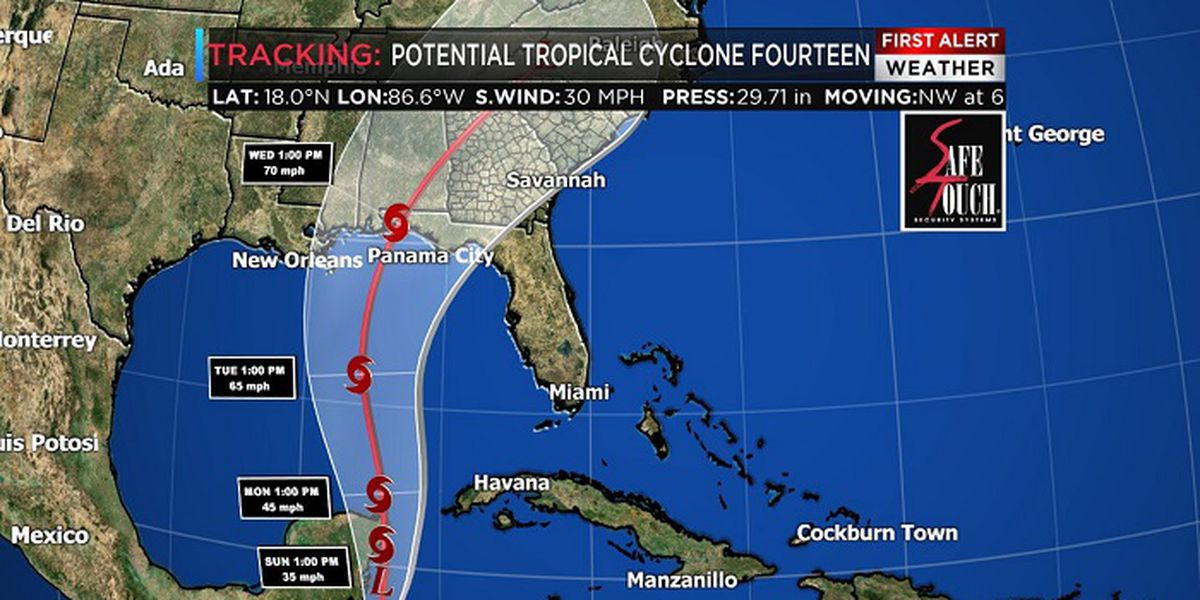 Michael grows into Category 1 hurricane south of Gulf states