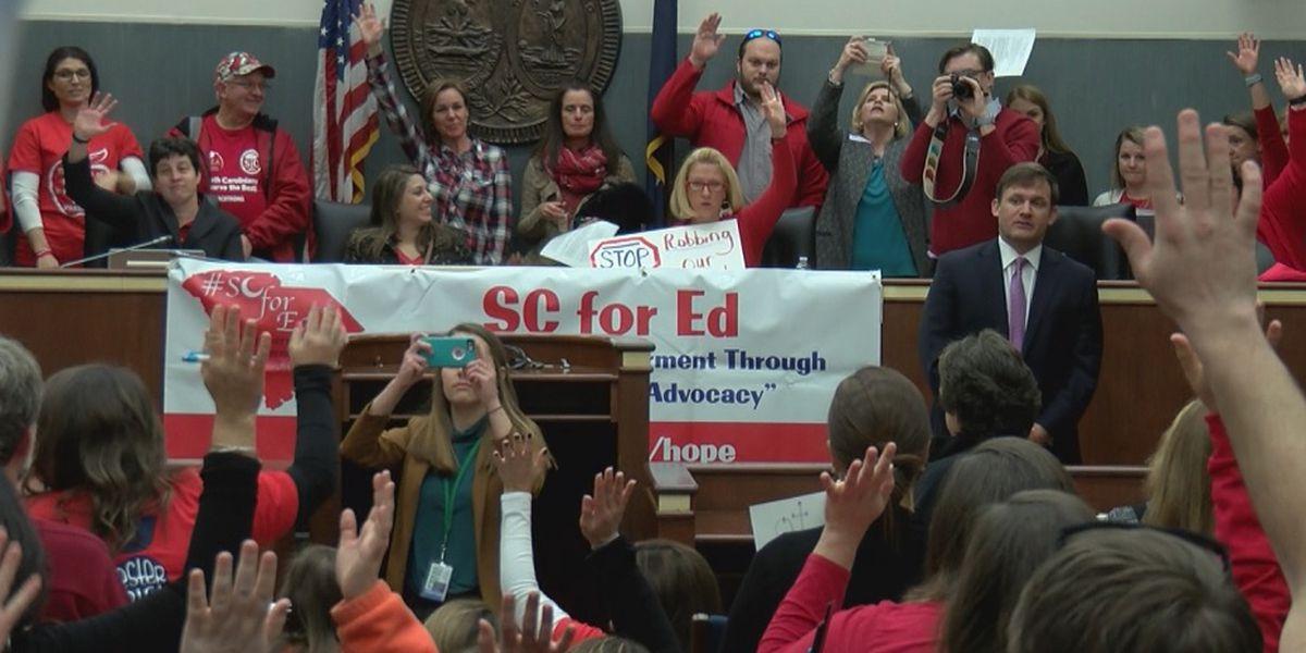 Hundreds of SC teachers visit lawmakers days after education reform bill filed