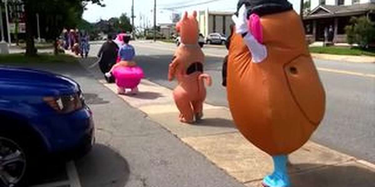 North Carolina Parks and Recreation Department throws surprise character parade