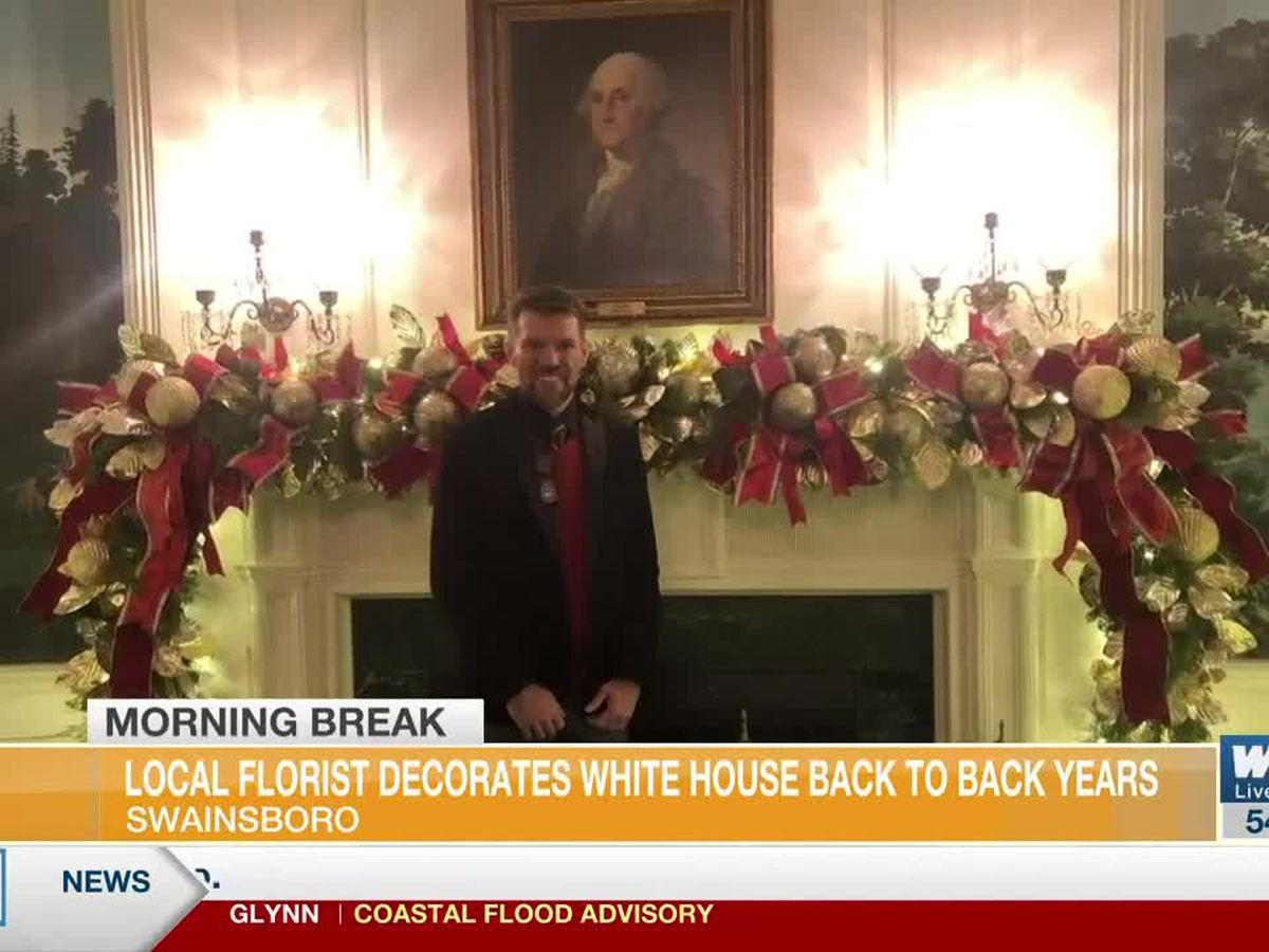 Local Florist, Decorator Brings Christmas Cheer to White House