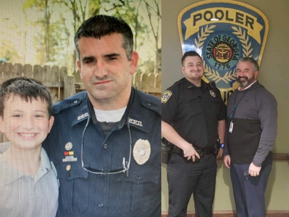Father, son make history working together at Pooler Police Department