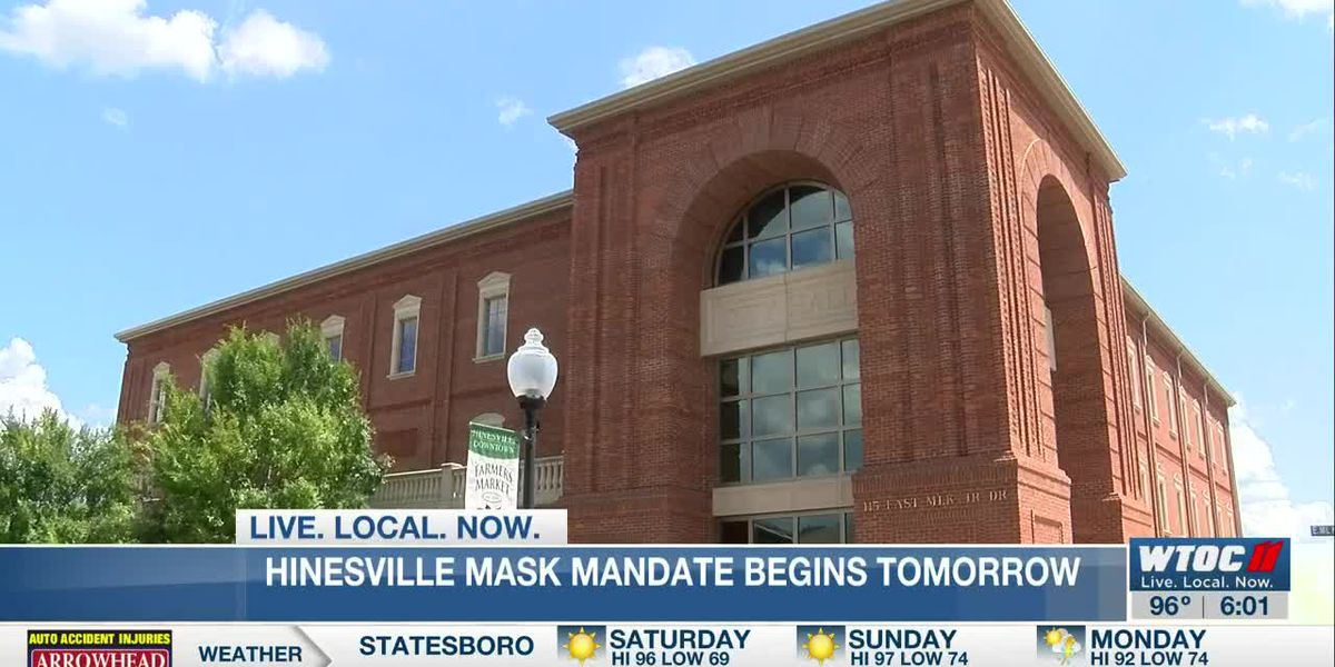 Hinesville's mask mandate begins Saturday