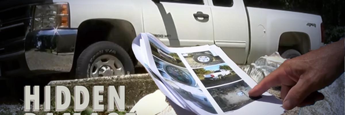 Hidden Damage: Wrecked, flooded border patrol truck sold at dealership without damage declared