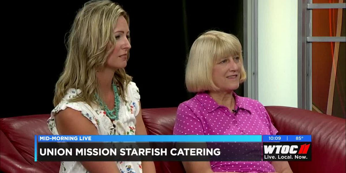 Suzanne Willis and Patricia Youngquist of Union Mission discuss Starfish catering success