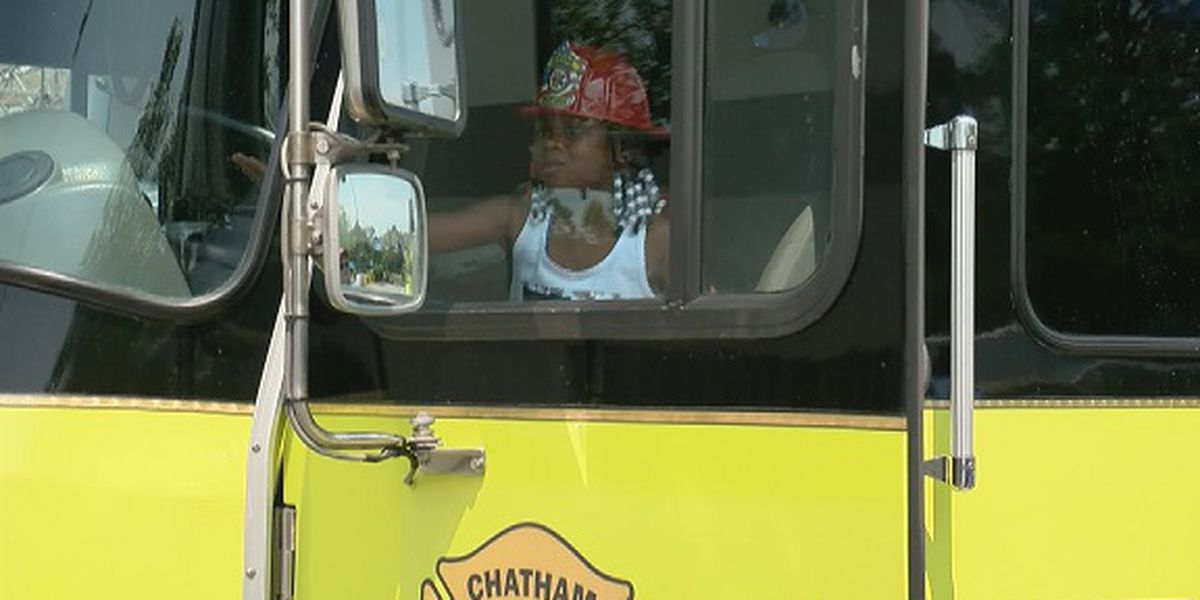 Kids in Coastal Empire participate in 'Touch a Truck' event with firefighters, first responders