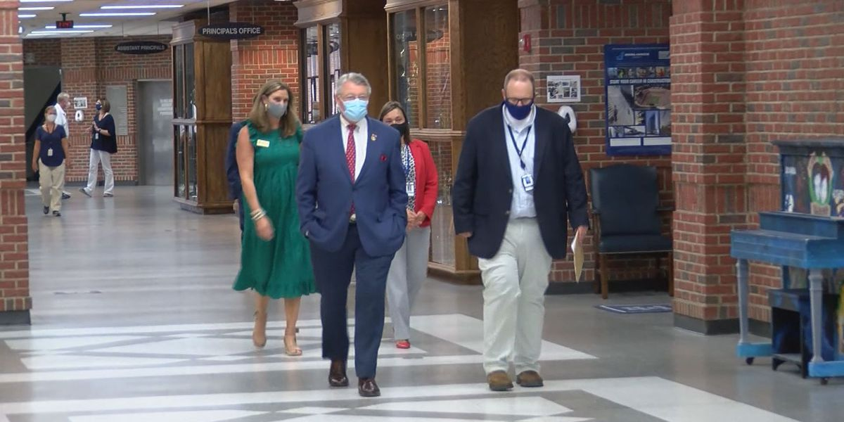 Rep. Allen tours schools to see how education efforts are going during pandemic