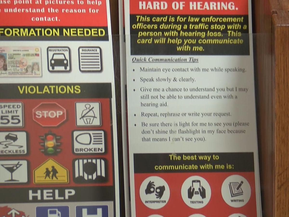 Garden City Police Department creates visor card for deaf, hard of hearing