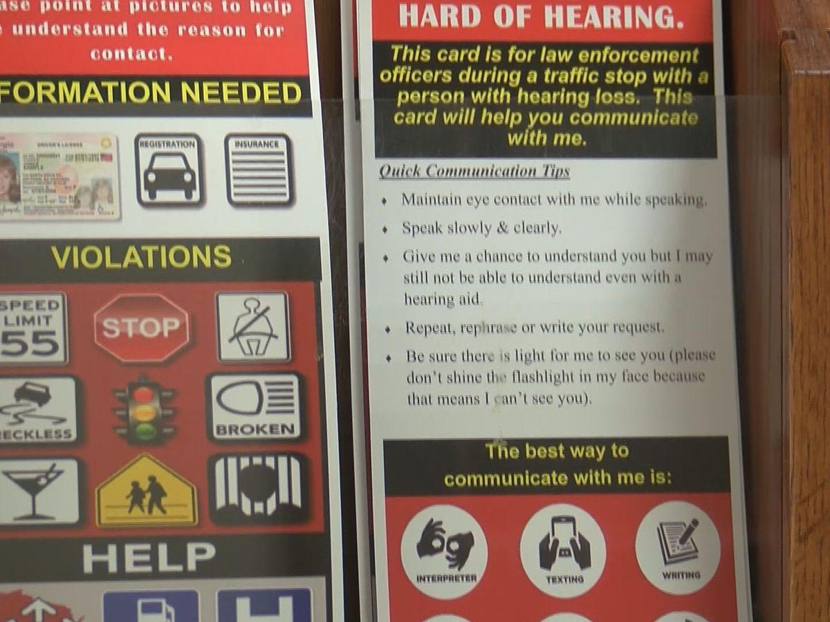 Garden City Police Department creates visor card for deaf, hard of hearing