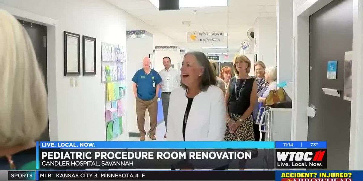 Candler Hospital unveils new pediatric procedure room