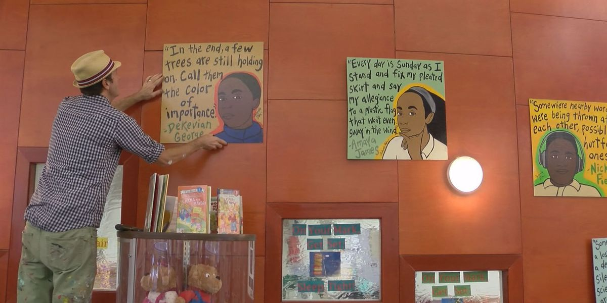 Murals of DEEP Center Savannah writers displayed at Bull St. library