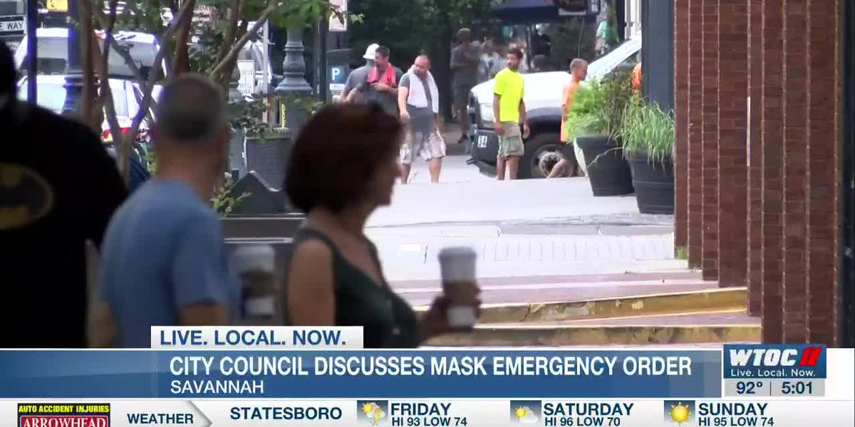 Savannah city council discusses mask ordinance