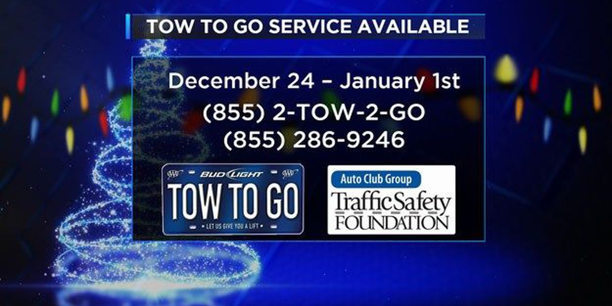 AAA, Bud Light offering 'Tow -to-Go' service over the holidays