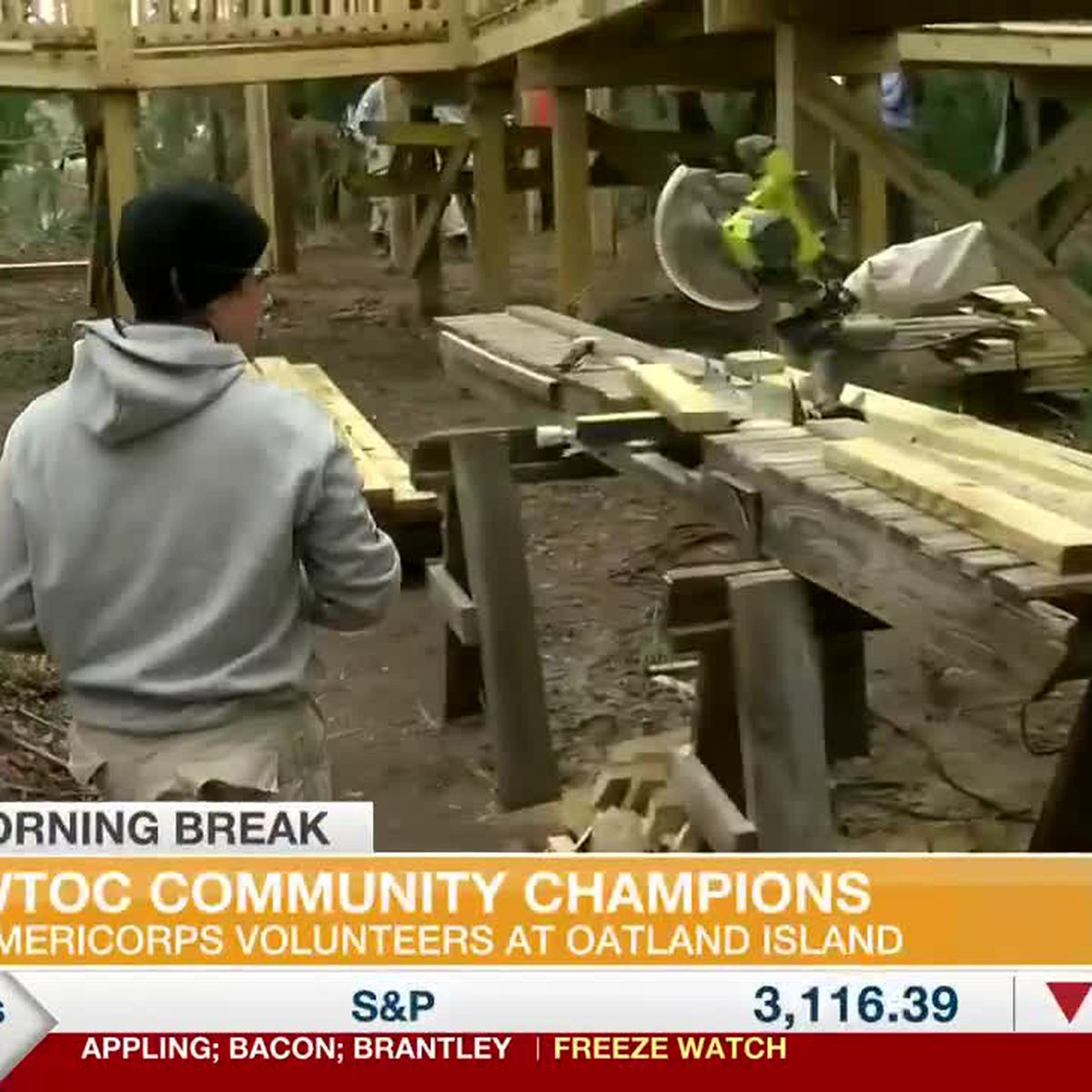 WTOC Community Champions: Americorps volunteers at Oatland Island