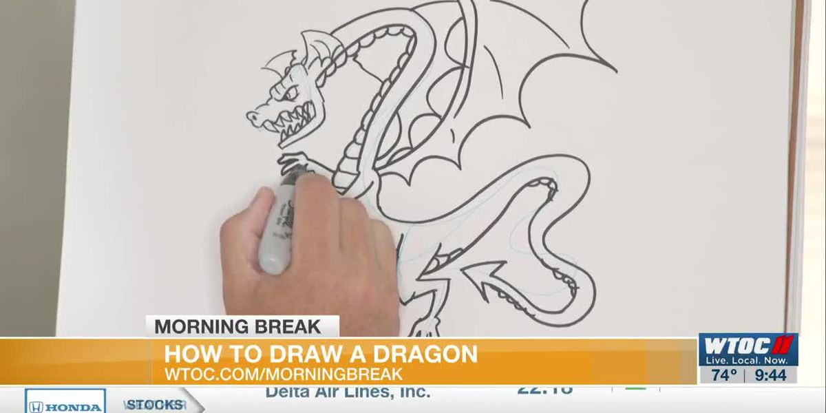 Learn to Draw: Drawing a dragon