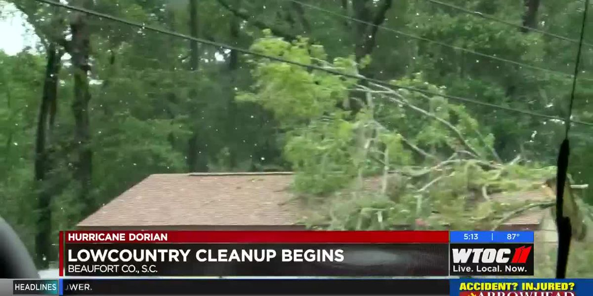 Cleanup underway in the Lowcountry after Hurricane Dorian