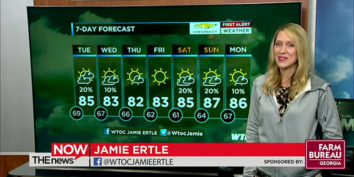 Jamie is tracking a cool front tomorrow. She's got your First Alert Forecast on The News Now.