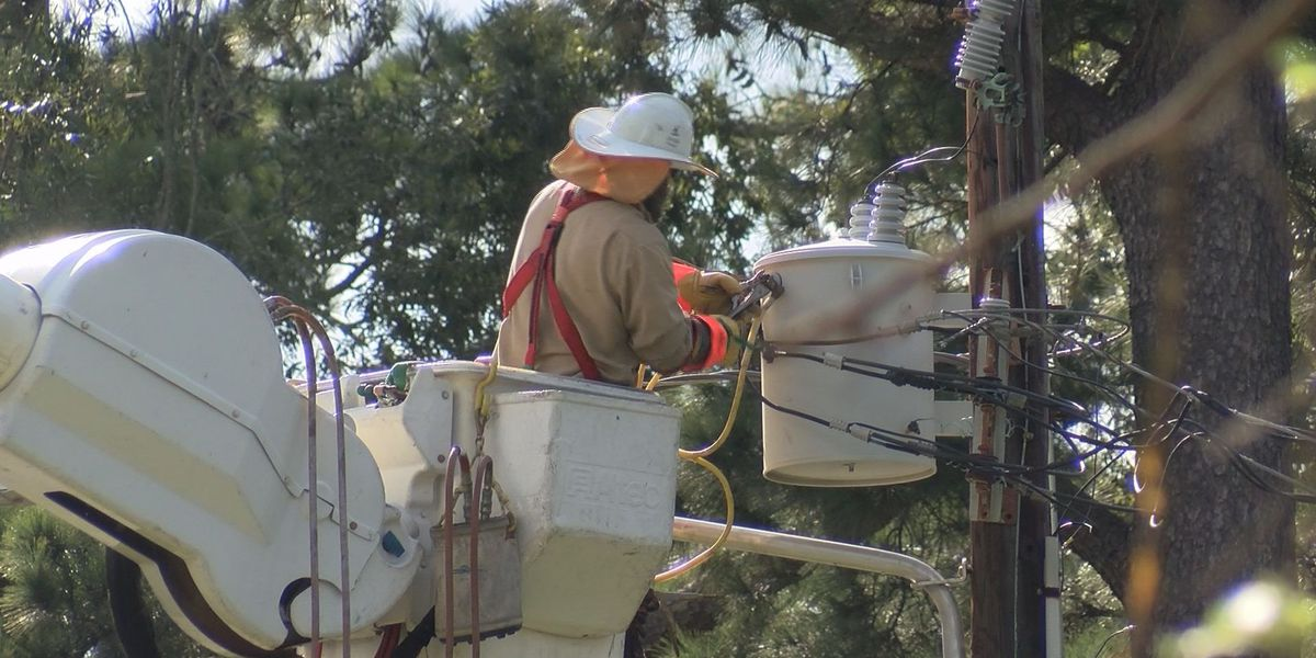 Power crews hard at work fixing outages