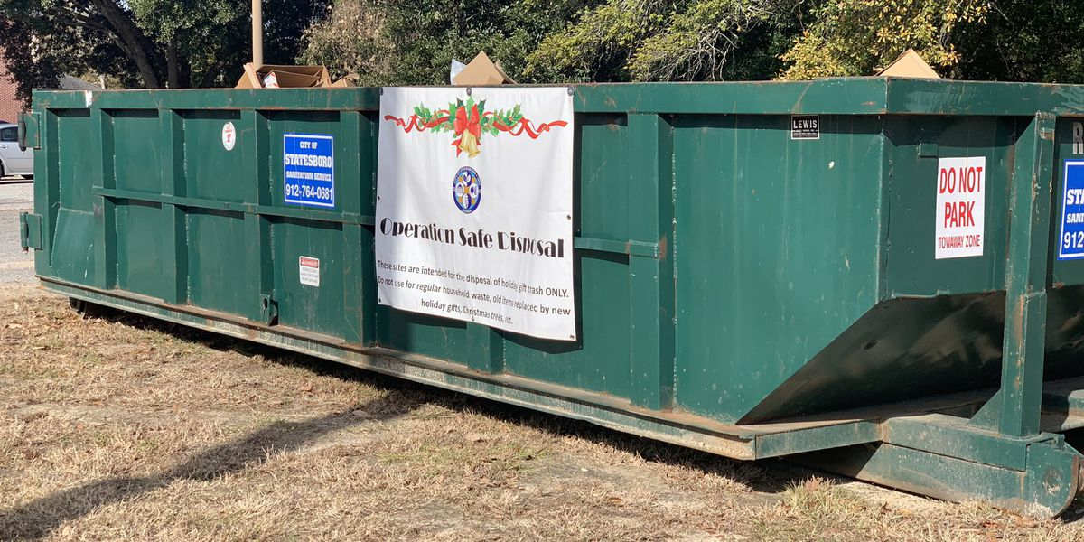 Statesboro sets up holiday trash containers around town to avoid burglaries