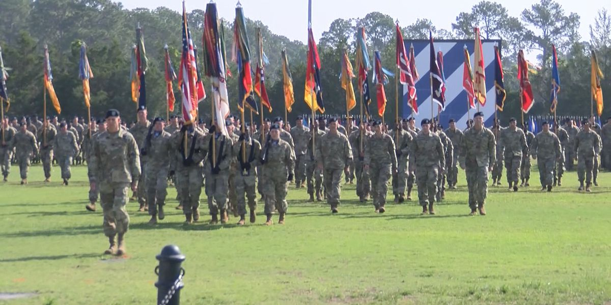 Change of Command held at Fort Stewart