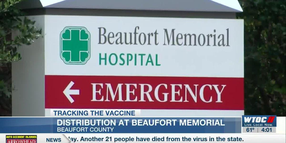 Beaufort Memorial Hospital holds drive-thru COVID-19 vaccine clinic