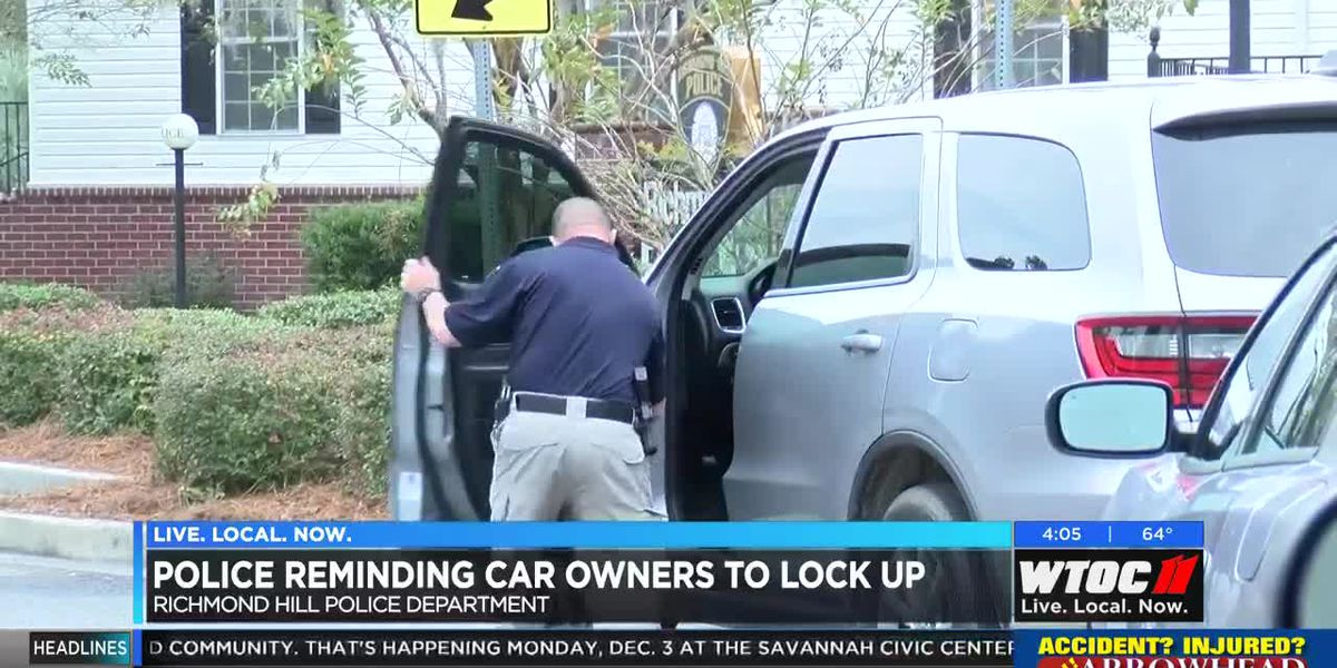 Richmond Hill Police reminding car owners to lock up
