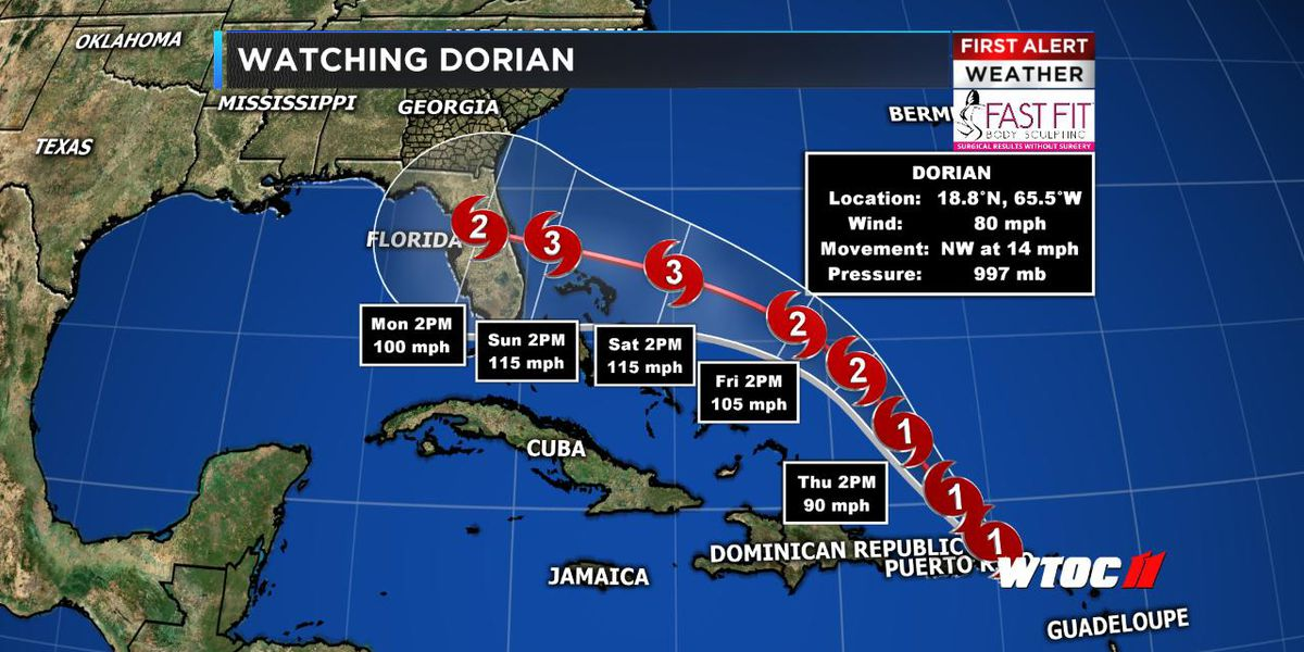 Hurricane Dorian expected to continue strengthening